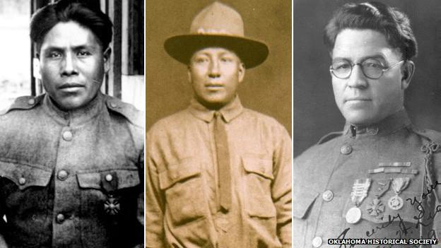 Integrantes del escuadrón telefónico choctaw