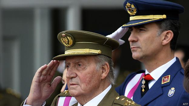 Juan Carlos, Felipe