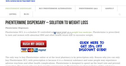 Adipexdrugstore.com Online Offshore Pharmacy