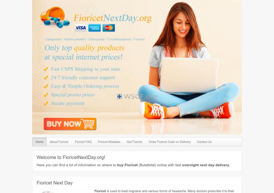 Fioricetnextday.org Online Canadian Pharmacy
