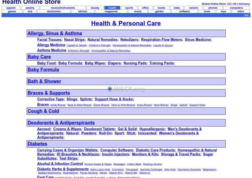 Health-Online-Store.net Overseas Internet Pharmacy