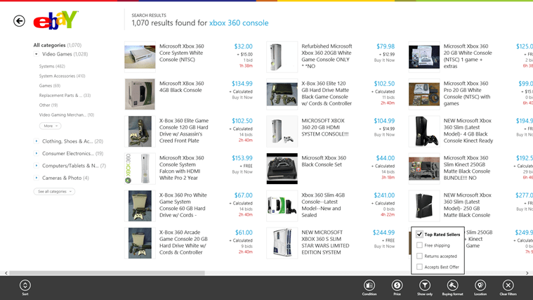 Search and filter through products on the world's largest marketplace.