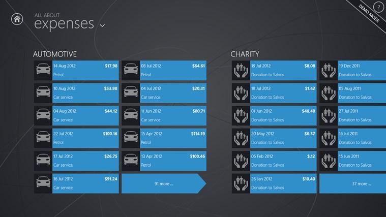 Transaction details screen (Expenses)