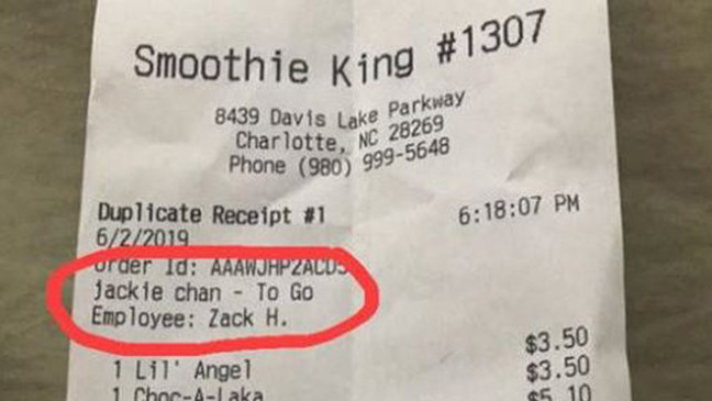 Chain closes North Carolina stores over racist receipts