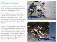 NZ Team Announced