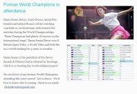 World Champions in attendance