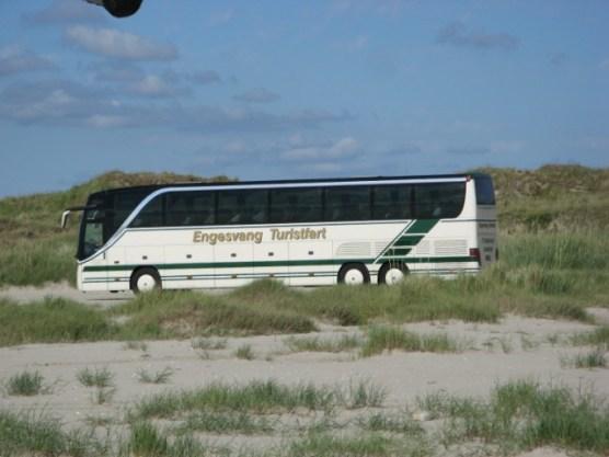 Die offizielle Fahrtrute führt über den Strand