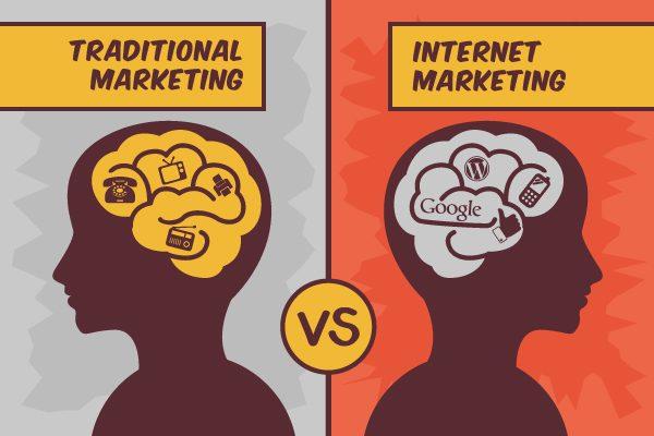 نتيجة بحث الصور عن E-marketing and traditional marketing