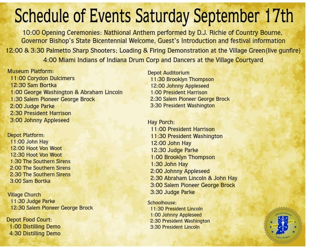 Old Settlers Day Schedule of Events Saturday Redo