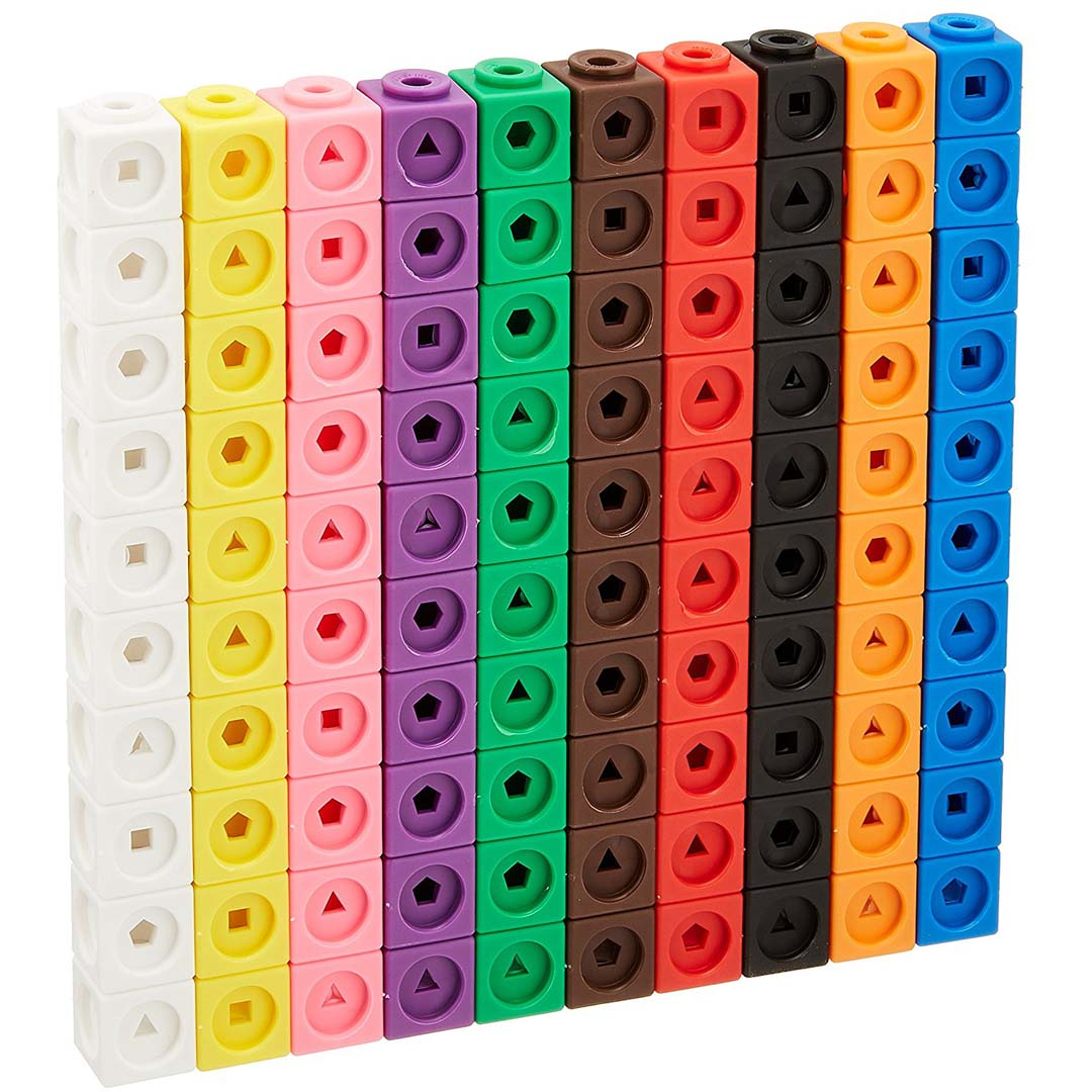 Learning Resources Math Link Cubes Set Of 100 Cubes