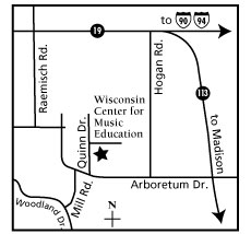Wisconsin Center for Music Education map