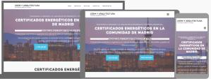 Diseño web para certificados energeticos