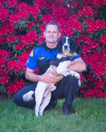 Sergeant Kerry Kintzley and K9 Moss