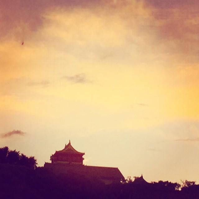 日が長くなりましたね。今日はとても暑かったです。頭すっきり。#イマソラ #mysky  #sky #fine #sunset #castle