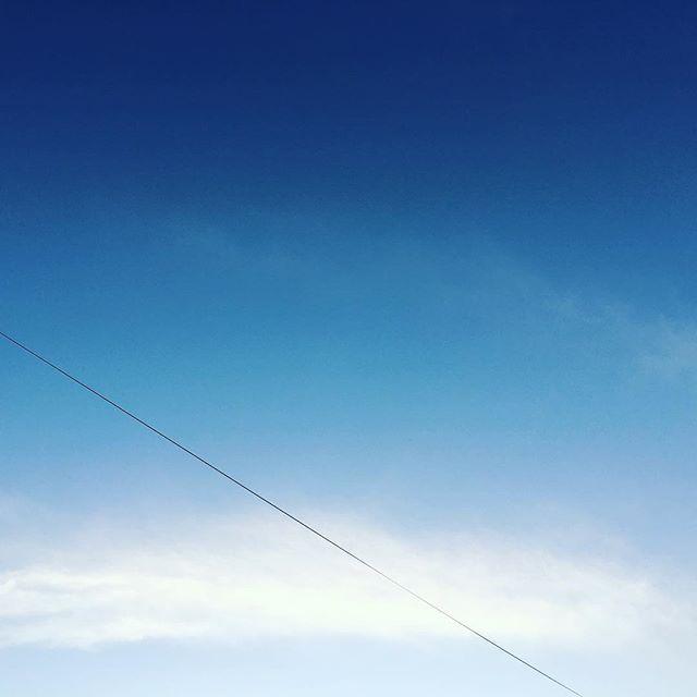 もわっと、お疲れさまです。ちょっとお疲れモード。また明日。#イマソラ #mysky #sky #sunset #blue #fine #cloud
