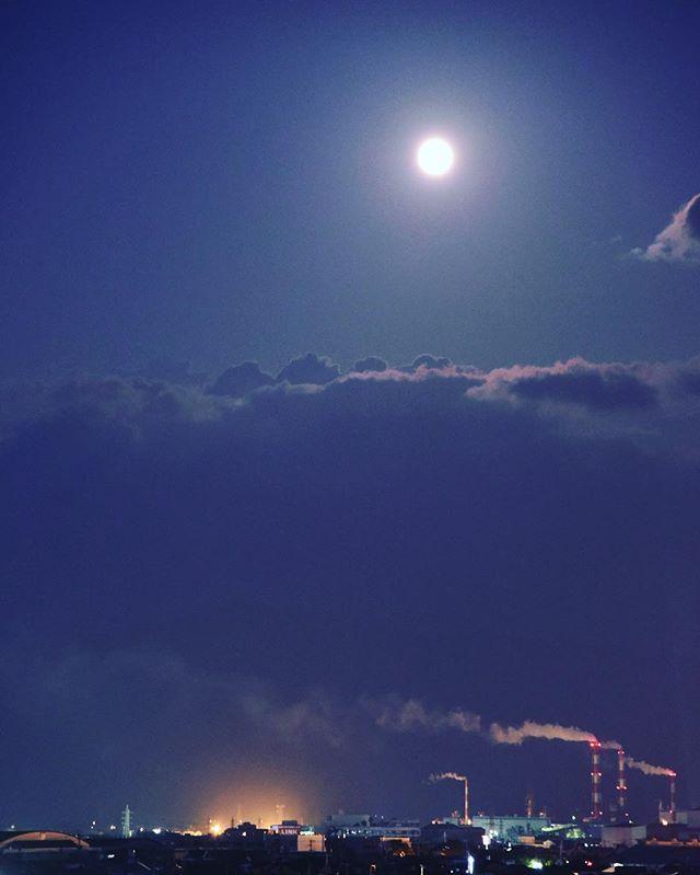 もうすぐ満月 #イマソラ #mysky #sky #night #moon