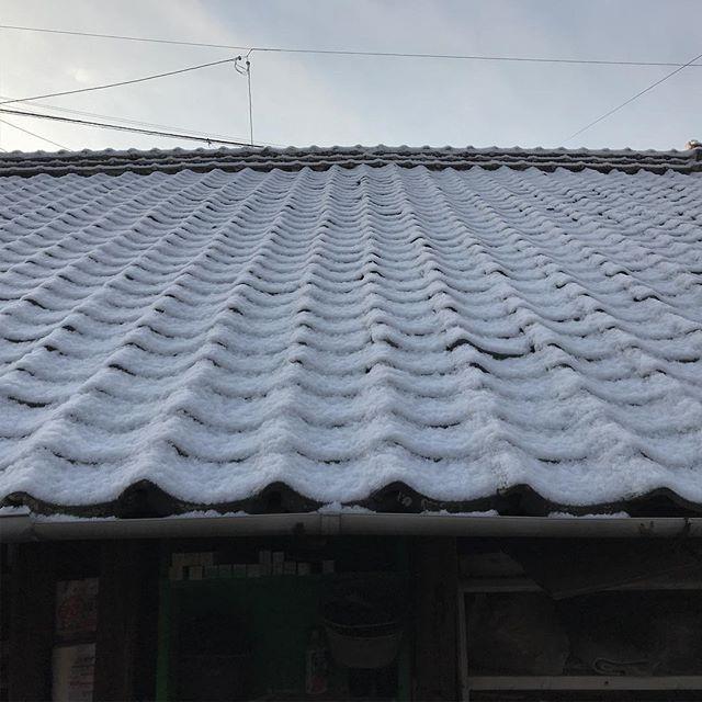 夜のうちに雪。こんなに雪の多い冬はあまり記憶にない。気をつけて出かけよう。#イマソラ #mysky #sky #snow #japanese #roof #kawara #sunrise #cloudy #february #winter #2018 #japan