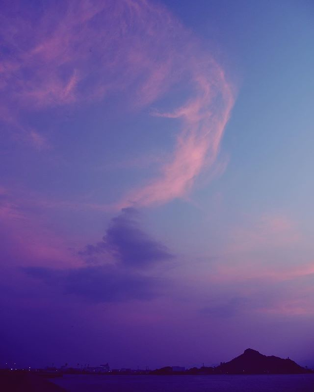 立秋といいつつ、こちらは今日も死にそうな暑さでしたよ。空は蒸して、羽のような雲に癒されました。母と猫をまもるのに必死な毎日です。北の方は台風に、南の方は暑さに気をつけましょうね。あと少し。またね。#イマソラ #mysky #sky #sunset #hotday #fine #sea #cloud #feather #summer #august
