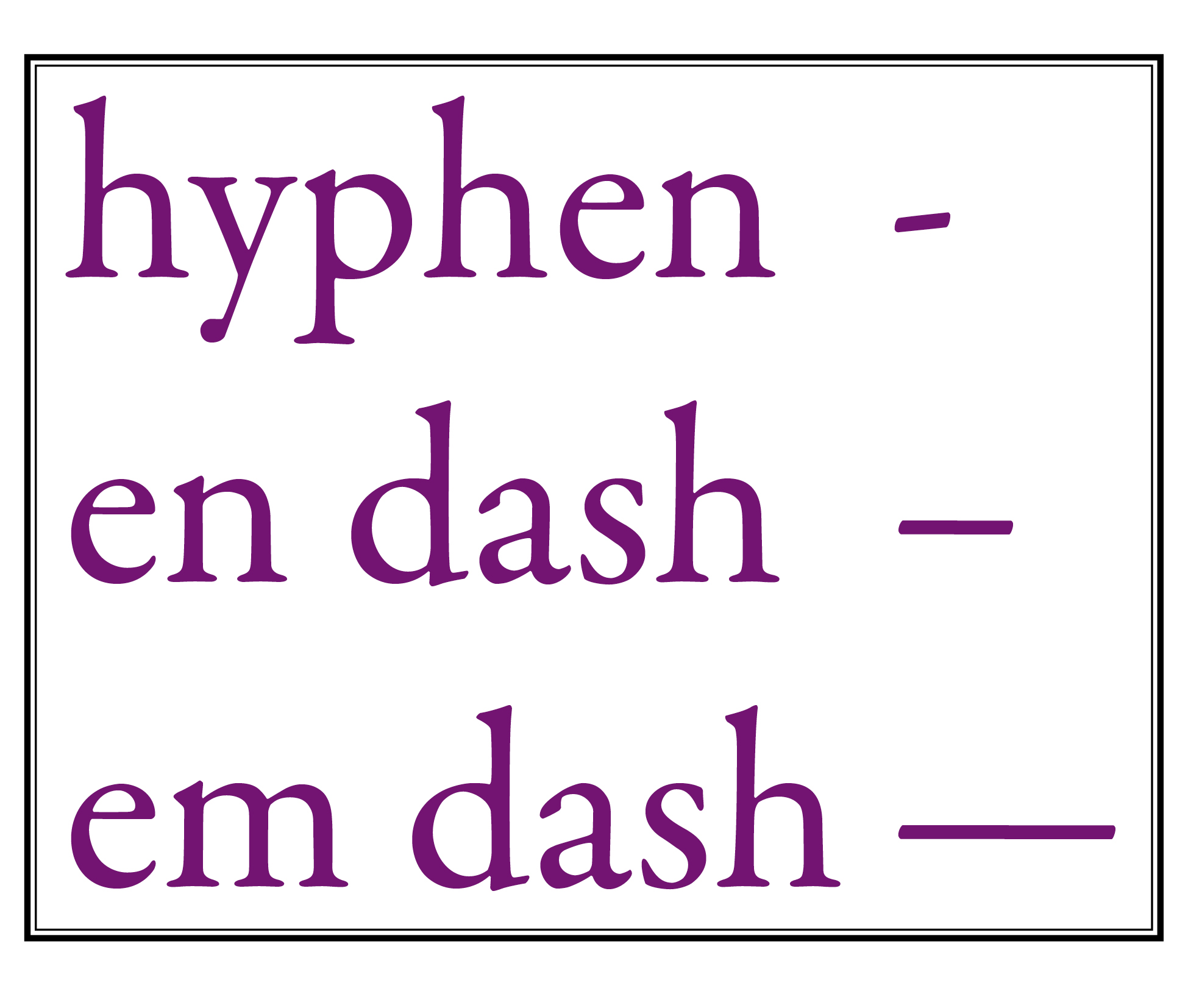 Monday Money Typographic Etiquette Hyphens En Dashes