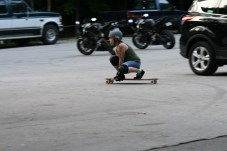 Lyndse breaking out her longboard for some fun!