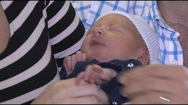 WFOR CBS 4 Miami anchor Rhiannon Ally and WSVN 7 News anchor Mike Marza welcome baby boy