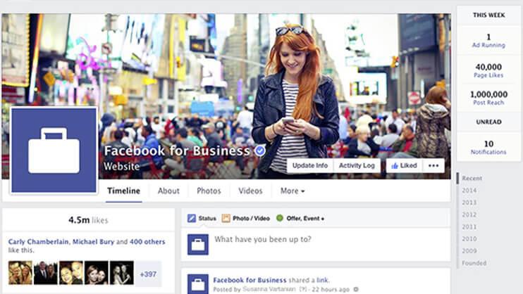 Facebook anuncia novo visual para Páginas