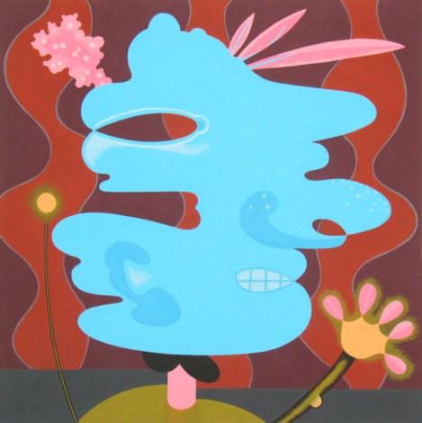 Flower Head (blue) by Joy Taylor