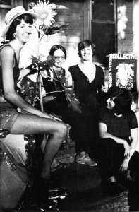 L-R: WSW Founders Anita Wetzel, Ann Kalmbach, Barbara Leoff Burge, and Táňa Kellner, in 1977.