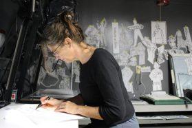 Carol at work in WSW's darkroom.