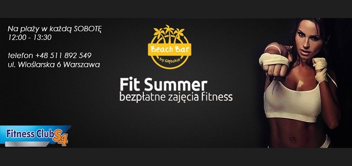 Plenerowe treningi FIT SUMMER - Beach Bar, Fitness Club S4