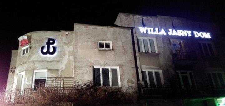 Odsłonięto znak Polski Walczącej na fasadzie Willi 'Jasny Dom'