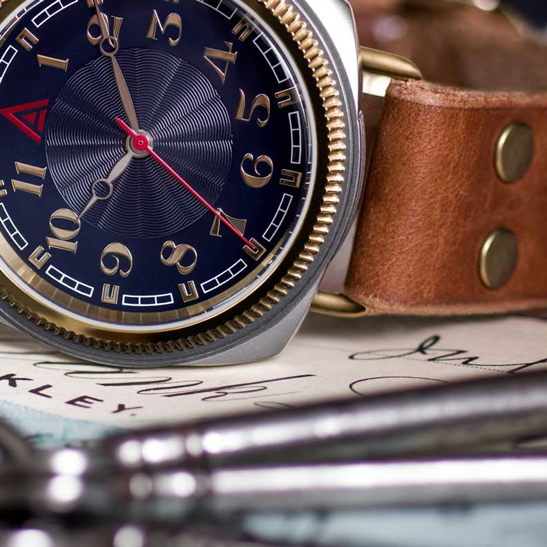 LEATHER WATCHES WT AUTHOR BLUE 2