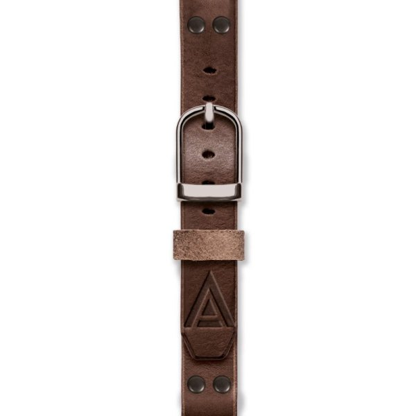 Handmade straps fastened brown by WT Author