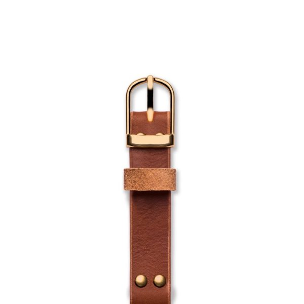 Handmade Leather Watch Straps 'No. 1929' Tan / Gold Top
