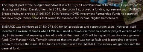 Screen shot from the online recap of the College Station city council meeting held 7/24/2014. http://blog.cstx.gov/2014/07/24/live-blog-thursdays-city-council-meetings-july-24/