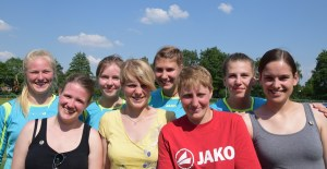 Wollen in die 2. Bundesliga - Die junge Damenmannschaft des TuS Spenge