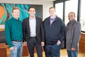 圖左起Argo AI公司營運長Peter Rander、Ford總裁暨執行長Mark Fields、Argo AI公司創辦人暨執行長Bryan Salesky、Ford全球產品研發執行副總裁暨科技長Raj Nair。p1148-a4-02