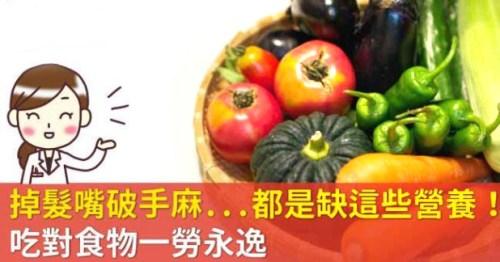 「醫食同源」 吃對食物補充「維生素」助改善健康 p1157-a5-02