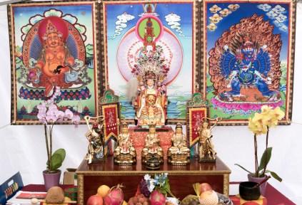 圖為西雅圖雷藏寺攤位壇城。
