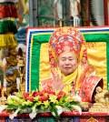 2017年10月1日下午,美國西雅圖彩虹雷藏寺恭請蓮生法王盧勝彥主壇「金剛亥母護摩大法會」,四眾嘉賓護持。圖為蓮生法王。
