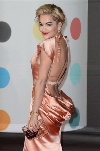 Guests arriving for the BRIT Awards 2013