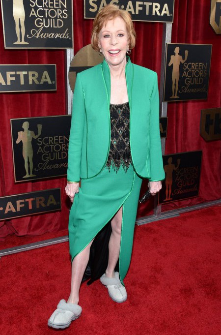 LOS ANGELES, CA - JANUARY 30: Honoree Carol Burnett attends the 22nd Annual Screen Actors Guild Awards at The Shrine Auditorium on January 30, 2016 in Los Angeles, California. (Photo by John Shearer/Getty Images for People Magazine)