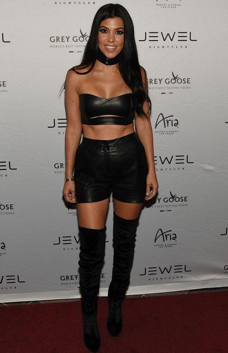 LAS VEGAS, NV - MAY 22: Kourtney Kardashian arrives at JEWEL Nightclub at ARIA Resort & Casino on May 22, 2016 in Las Vegas, Nevada. (Photo by Denise Truscello/WireImage) *** Local Caption *** Kourtney Kardashian