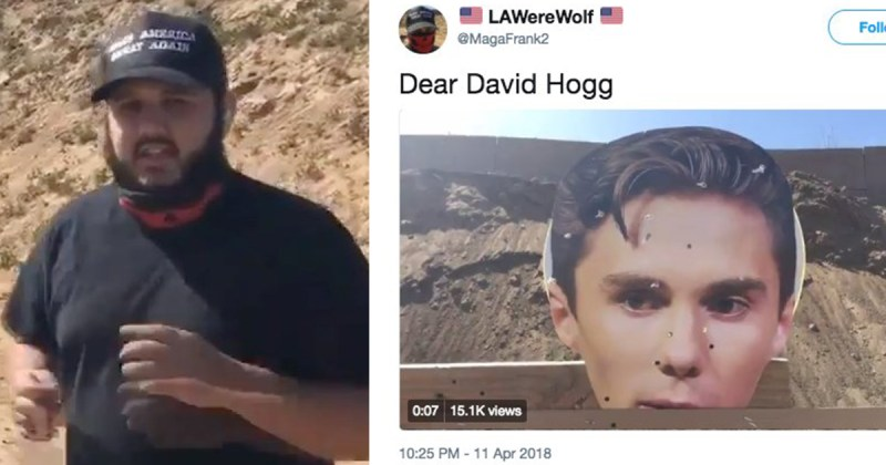 Trump Supporter Uses David Hogg's Head as Target Practice