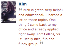 Kim on Nick Armstrong