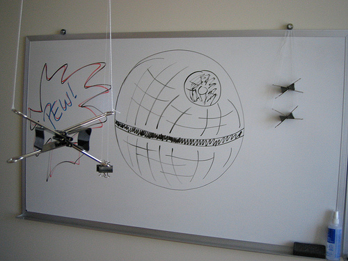 Whiteboard attacked by Deathstar