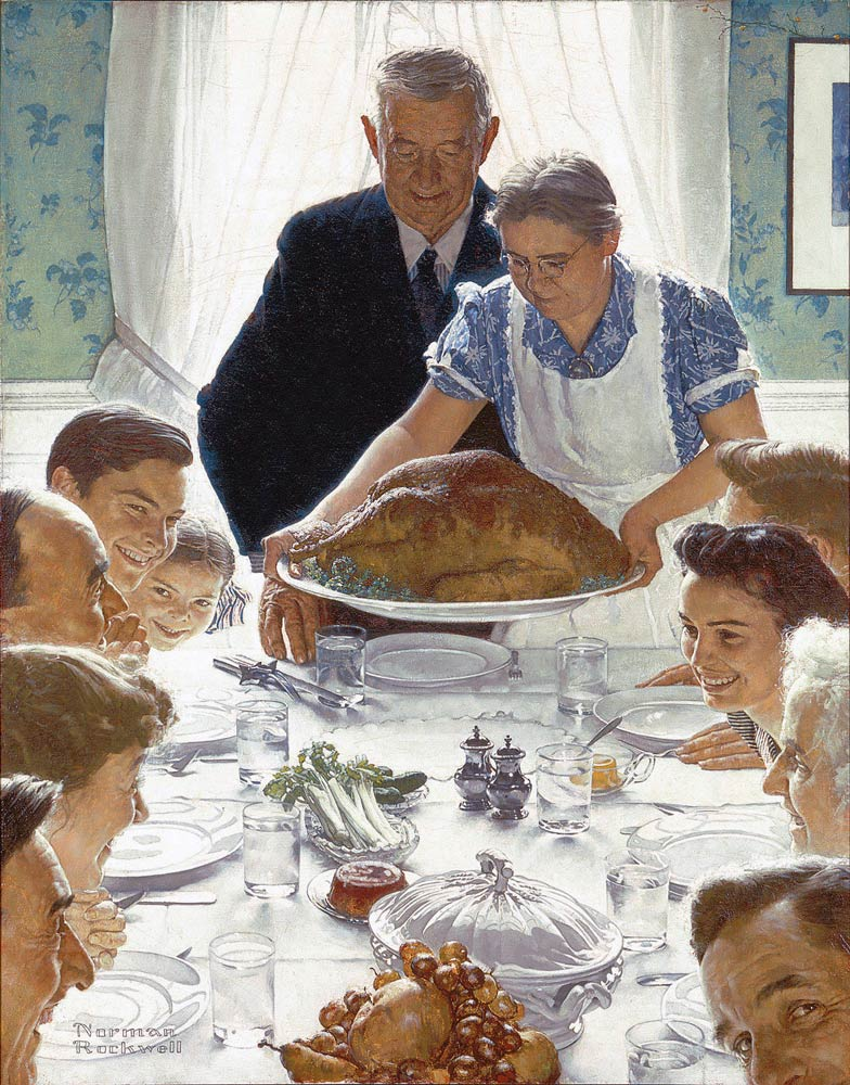 Norman Rockwell Freedom from Want 1943