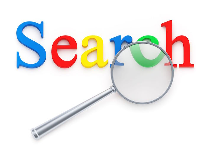 search magnifying glass google colors