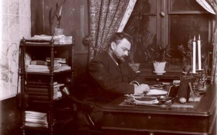 Stanisław Kontkiewicz przy pracy