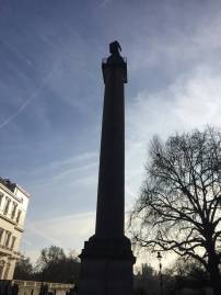 Duke of York monument from behind